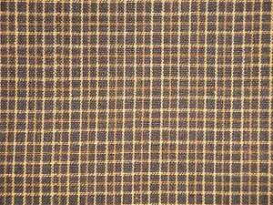 Cotton-Homespun-Fabric-Primitive-Fabric-Black-And-Khaki-Small-Plaid-Fabric
