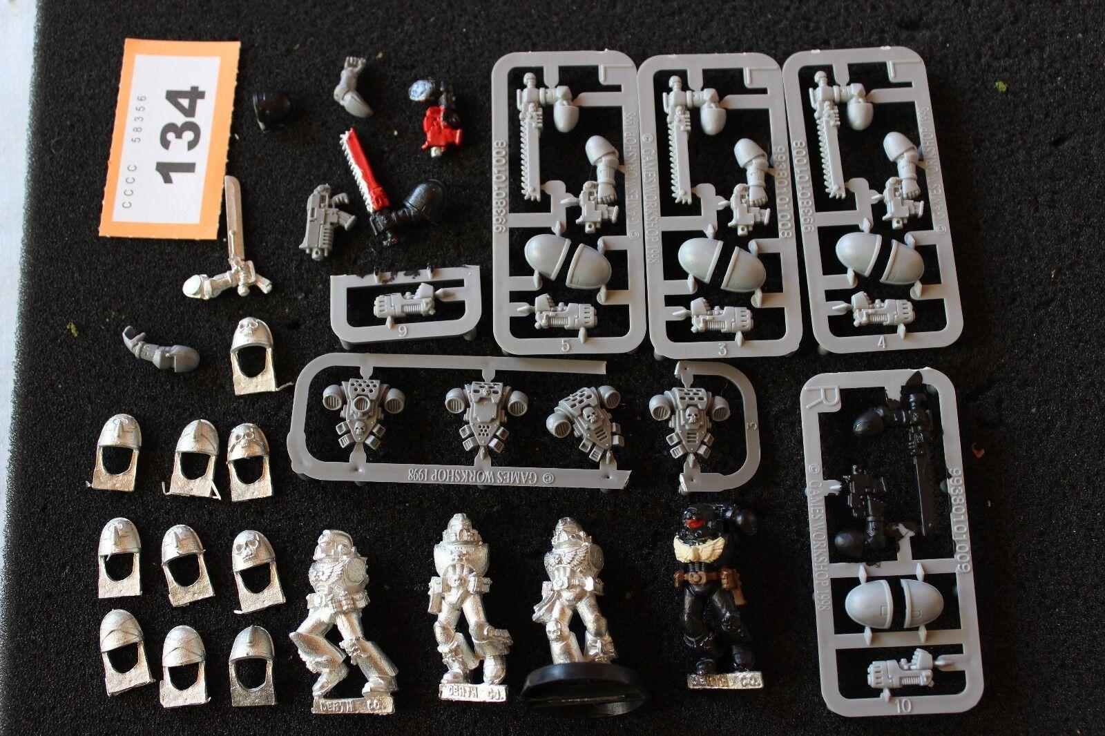 Games Workshop Warhammer 40k Blood Angels Death Company Metal Figures Pads Lot