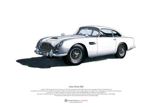 Aston Martin DB5 ART POSTER A3 size