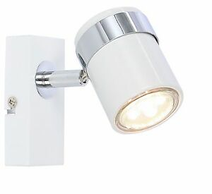 New white single led ceiling or wall spotlight spot lights fittings image is loading new white single led ceiling or wall spotlight mozeypictures Choice Image