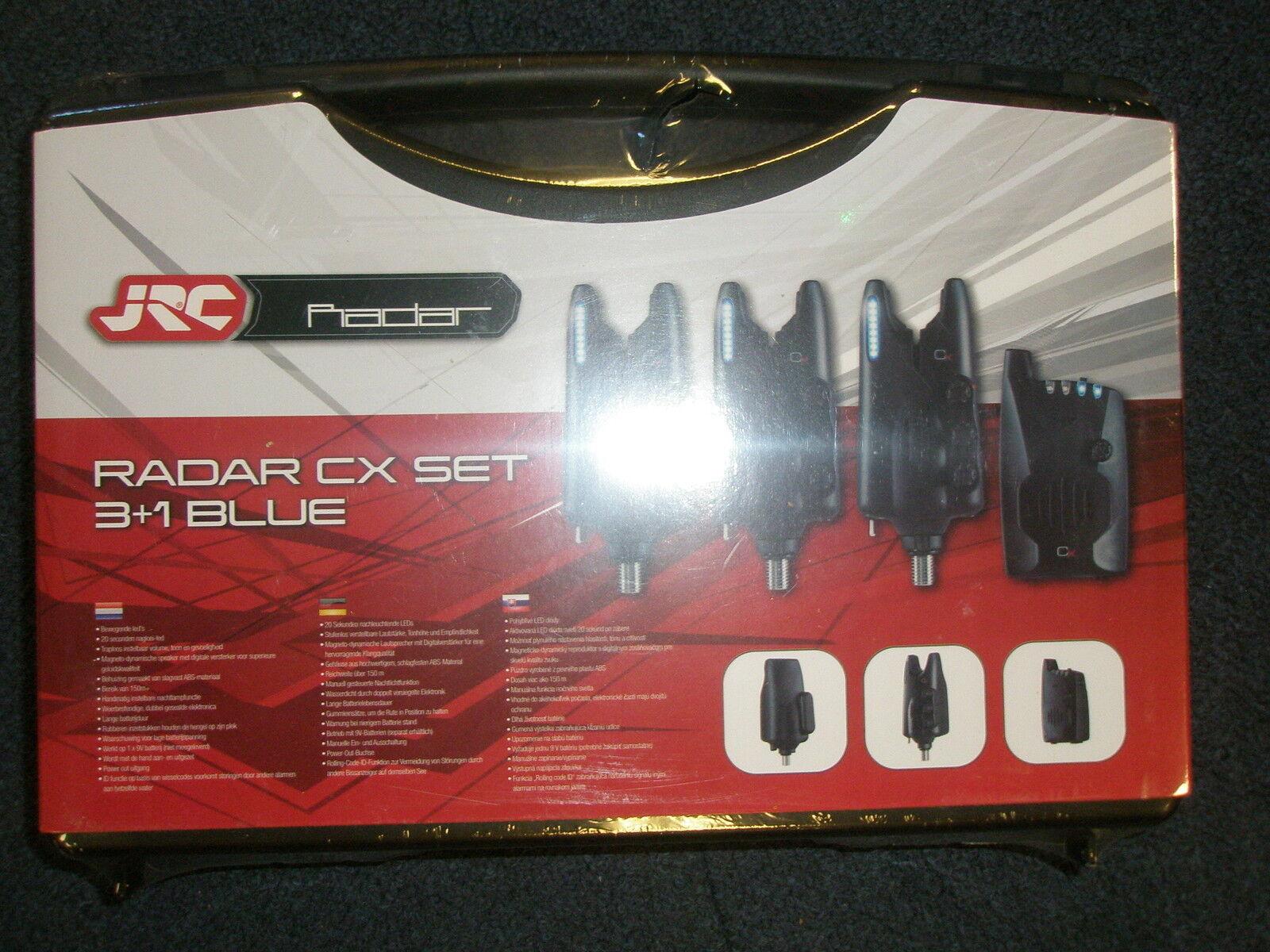 Jrc Radar Cx 3+1 Alarm + Empfänger-satz Alle Blau Karpfenangeln Ausrüstung