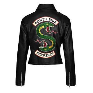 seleccione original moda atractiva de calidad superior Detalles acerca de Parche bordado de Mujer de Riverdale Southside  serpientes Chaqueta de cuero real.- mostrar título original