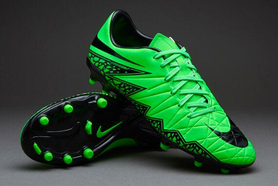 Para Hombre Nike Hypervenom Phelon II FG verde huelga Botín Talla 12 Zapatos Negro  130 Nuevas Con Caja