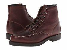 Men's Frye Arkansas Moc Toe Chestnut Tumbled Leather SZ 11 Made in USA MSRP 348$