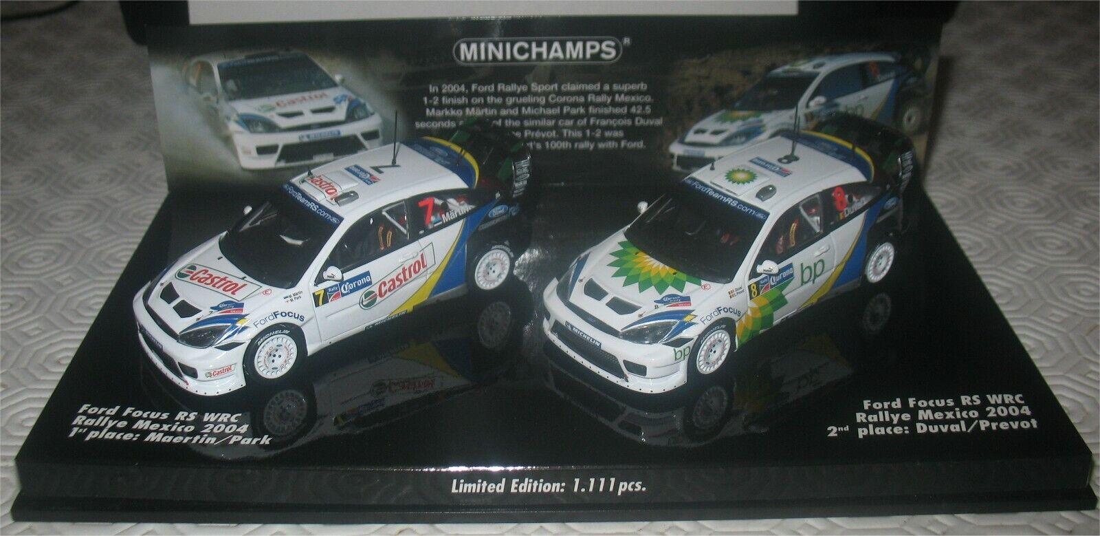 gran descuento Ford Focus WRC - 1st y 2nd Rally Rally Rally México 2004-M. Martin, F. Duval  Venta en línea de descuento de fábrica