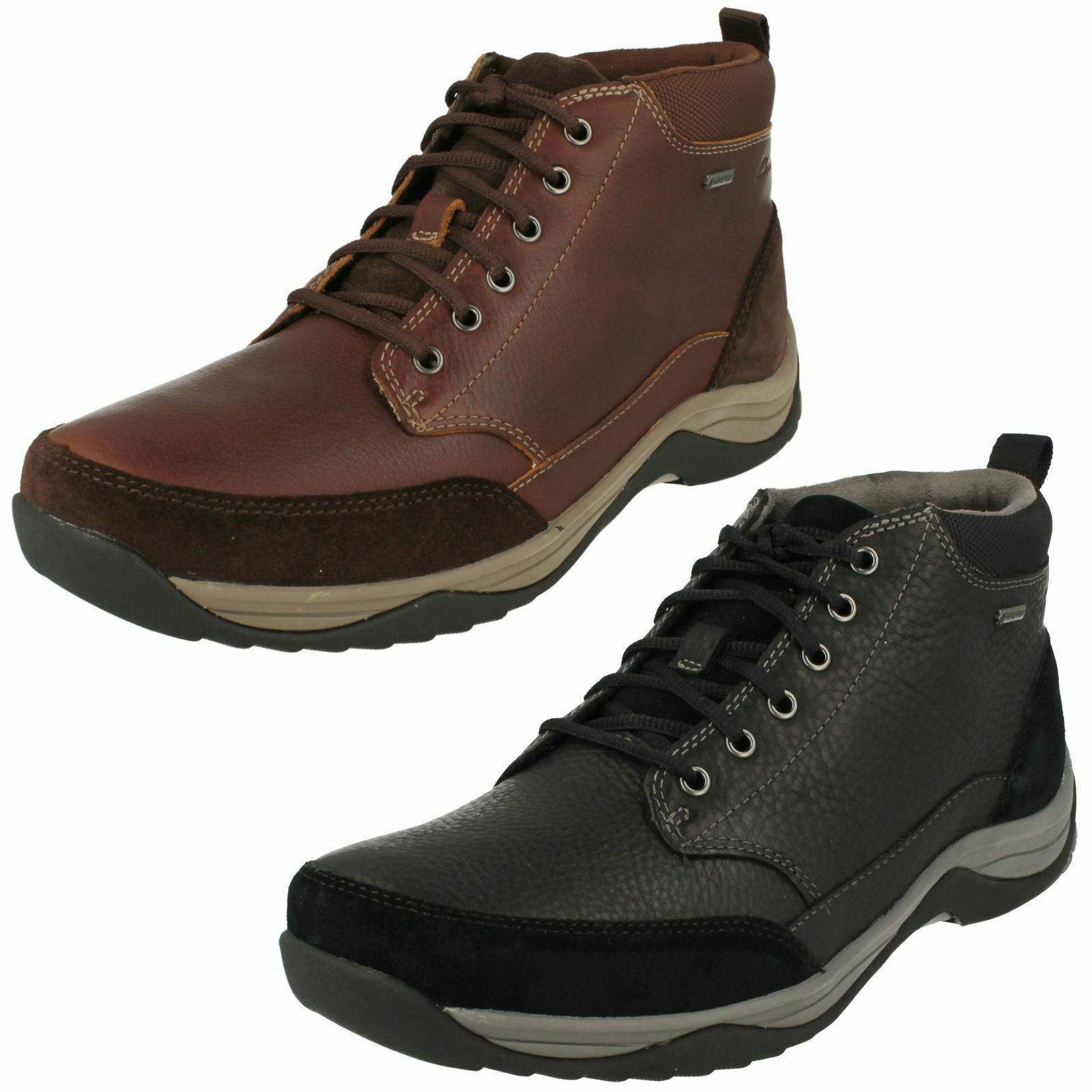 Mens Clarks Baystone Top GTX Waterproof Lace Up Ankle Stiefel