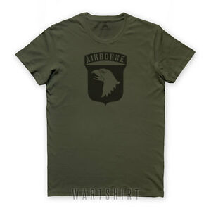 f744d7854 101st AIRBORNE T-SHIRT D-day Screaming Eagle Normandy battle ww2 ...