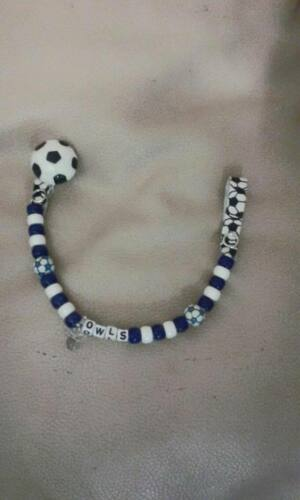 Handmade other teams availabl Football Sheff Weds Personalised Dummy Clips