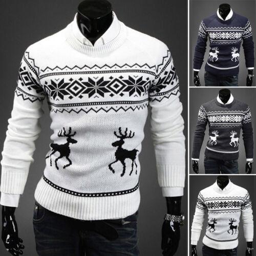 Weihnachts Pulli Urlaub Elfen Lustig Herren Pullover Strickpullover Oberteile #R