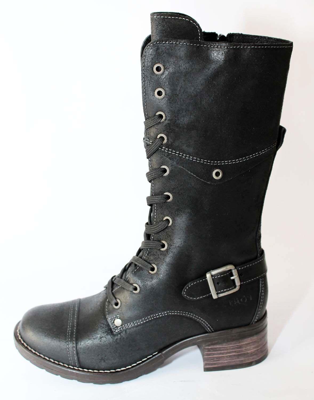 botas    botas mujer STYLE MOTARD CROUTE DE CUIR negro  taos  NEUVES  ventas en linea