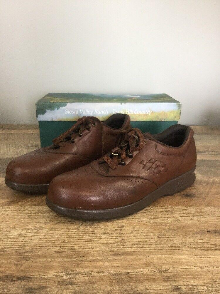 SAS Freetime Teak Size 9M 9 M Lace Up Brown Comfort shoes W  Box Women's