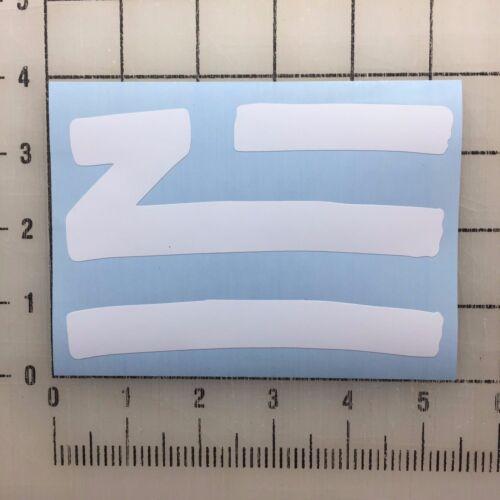 "BOGO Zhu Logo 5/"" Wide White Vinyl Decal Sticker"