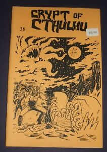 Crypt-of-Cthulhu-36-Yuletide-1985-Vintage-Fanzine-Lin-Carter-Lovecraft-Lore