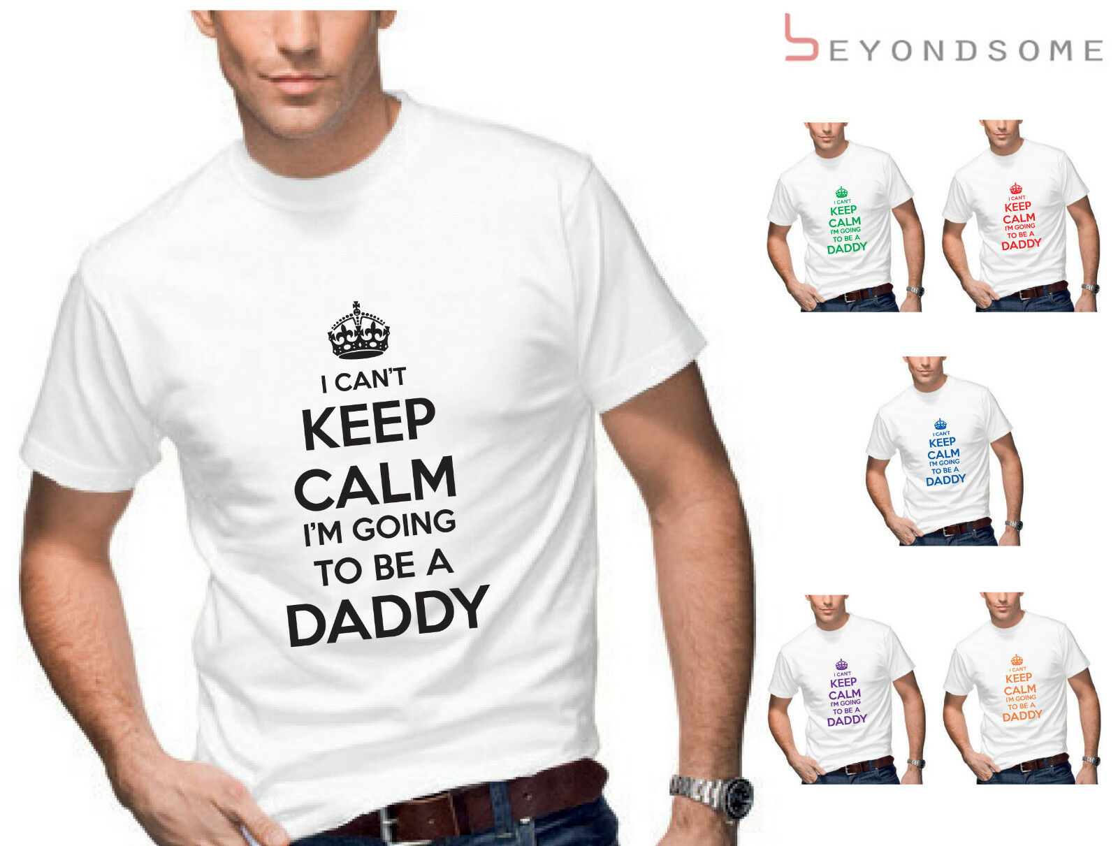 cdcb70679 MENS I CANT KEEP CALM IM GOING TO BE A DAD DADDY FUNNY T-SHIRT T SHIRT GIFT