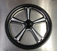 Jr. Dragster 16 Black Obsession Front Wheels(set Of 2) W/tires & Tubes Mounted