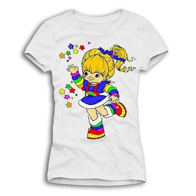 "★ REGINA REGENBOGEN ""Rainbow Brite"" Vintage T-Shirt / Top Gr. S/M/L ★"