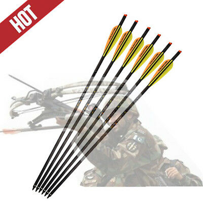 "20/"" Crossbow Bolts Carbon Arrows Archery Hunting Target Vanes for Crossbow"