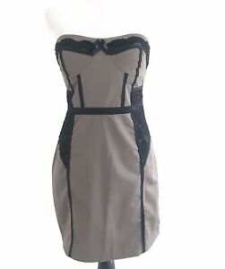 Bebe Lace Strapless Croset Dress Size 8