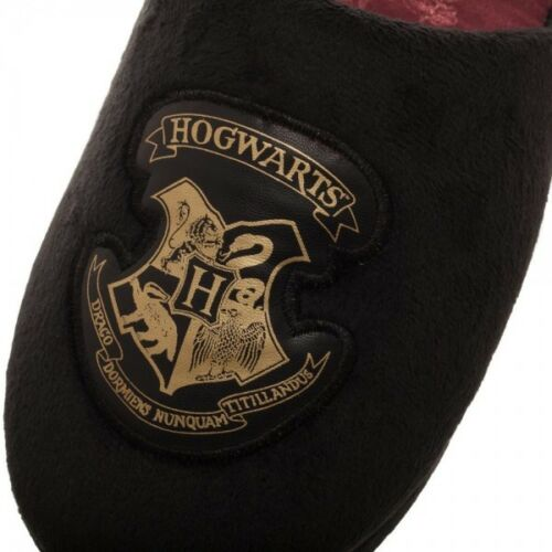 Hogwarts School Crest Harry Potter Slippers Shoes Slides Soft 5//6 7//8 9//10 Black