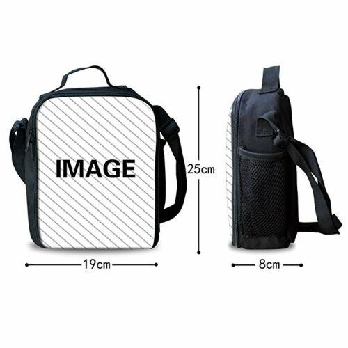 3pcs Basketball Football Backpack Boys School Lunchbox Pen Bag Mens Rucksack Set