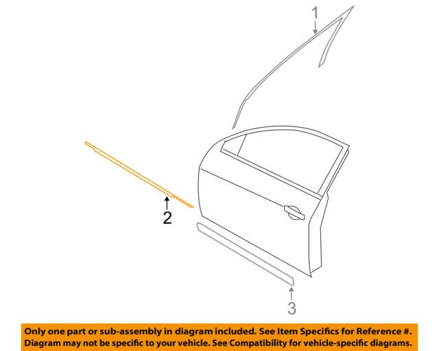 Genuine Nissan 2007 2012 Altima Right Belt Molding Seal Weatherstrip 80820 Ja01a Auto Parts Accessories Car Truck Parts