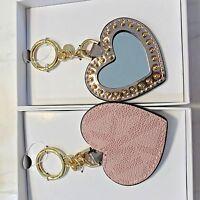 Michael Kors Key Charm Heart Mirror Mk Pink Ballet Logo Handbag Charm