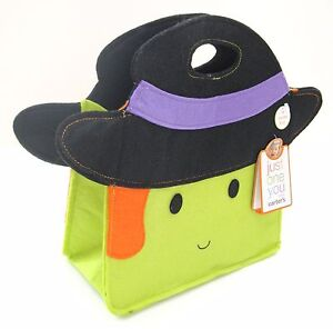 NEW-Halloween-Carter-039-s-Witch-Trick-or-Treat-Candy-Fabric-Tote-Bag-Purse-11x9x4