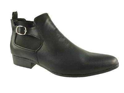 Brickers Mens Fashion Slip On Chelsea Buckle Boots Black Size 6-12 Gut FüR Energie Und Die Milz