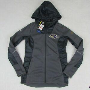 New-Under-Armour-NFL-Baltimore-Ravens-Gray-Zip-Up-Sweater-Jacket-Women-039-s-XS-149
