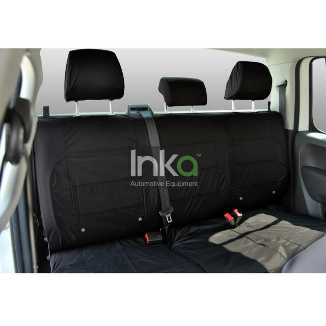 Isuzu Rodeo 2003-2012 Black Waterproof Tailored Front /& Rear Seat Covers UK Made