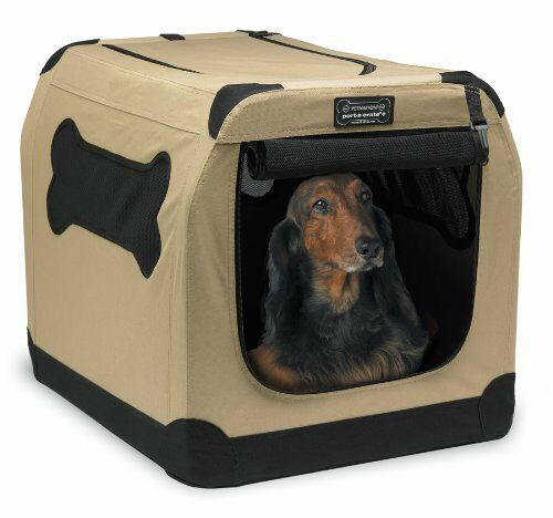 Port A Crate Pop Up Large 32  Dog Bed Kennel Portable Travel Pet Cat House Home