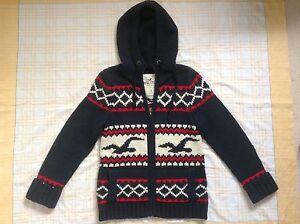 180 s scuro holister cappuccio in lana £ blu di cotone Bnwot con maglione 4wPAqWaR