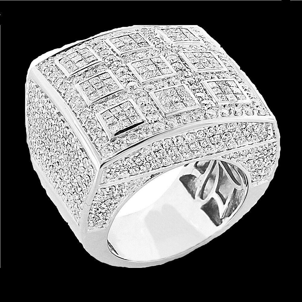 WHITE GOLD FINISH 3.00 CT MENS LAB DIAMOND ENGAGEMENT WEDDING PINKY RING BAND