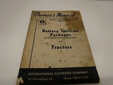 1950 Battery Ignition Packages Tractors Installing Instructions Owners Manual