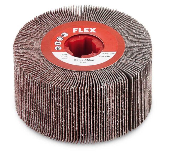 FLEX Schleif-Mop Schleifwalze 100 Ø x 50mm für BSE 14 14-3 P40 bis P240
