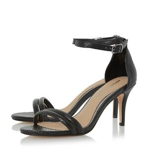 12525270fad Details about BNIB Dune Black Snakeskin Mid Heeled Smart Strappy Evening  Sandals Shoes Sz 8 41