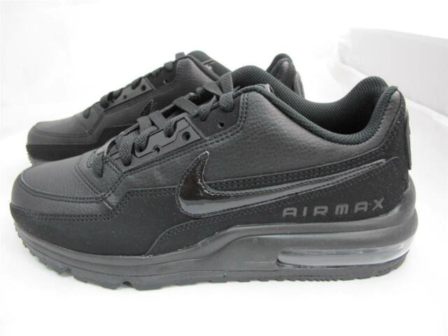 8fb8a9987604 Nike Air Max Ltd 3 Mens 687977-020 Triple Black Leather Running Shoes Size  11