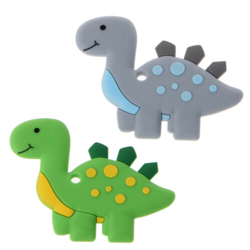 Lovely Dinosaur Baby Teether Pendant Necklace Accessory BPA Silicone Chew Toy