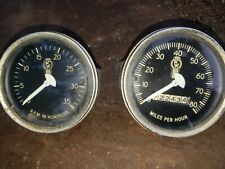 Kenworth Kw Large Truck Vintage 80 Mph Mechanical 3 38 Speedometer And Tach