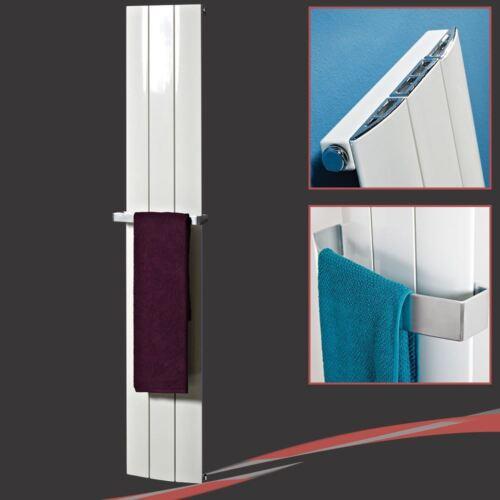 """280mm h /""""Thor/"""" White Aluminium Designer Vertical Radiator 2475 BTUs w x 1600mm"""