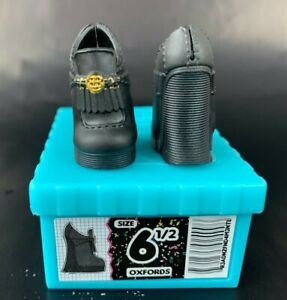 LOL-OMG-CLASS-PREZ-Replacement-Black-Platform-Shoes-Empty-Box-NEW
