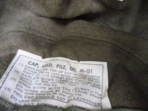 Us Army Original Winter Field Cap Od Mq1 1951 Alpaca Winter Hat Reforger Korea