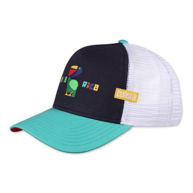 6a1eb64ff Coastal Hft Costal Rica Cap Navy High Fitted Trucker Mesh Cap Cap Djinns Hat