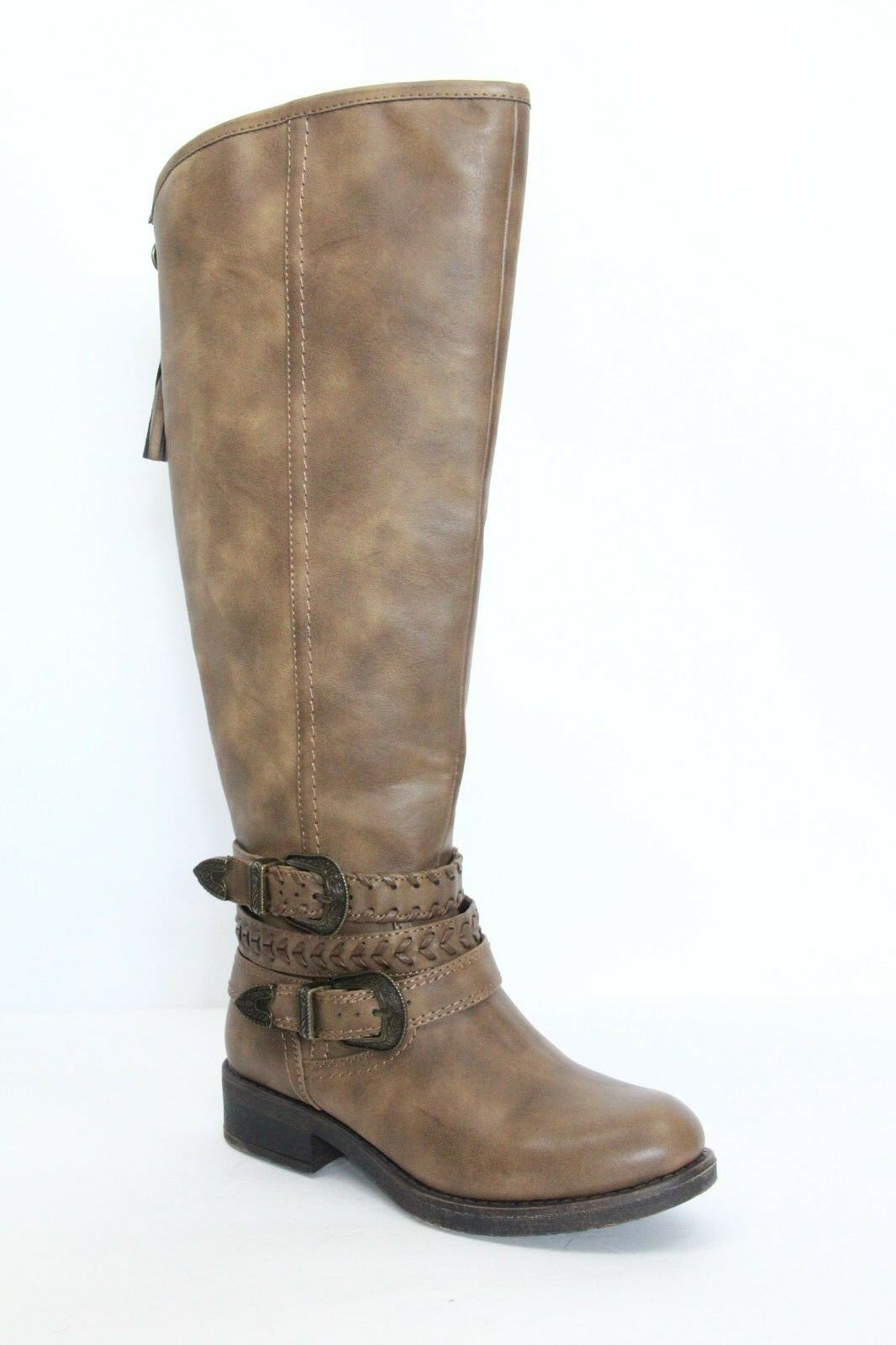 Madden Girl Knee High Boots Western sz 6 Faux Leather Brown NEW Riding shoes