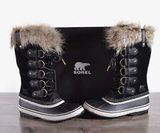 NEW Sorel Women's Joan Of Arctic Boots 9 MED Waterproof NL2429 Black Suede NIB
