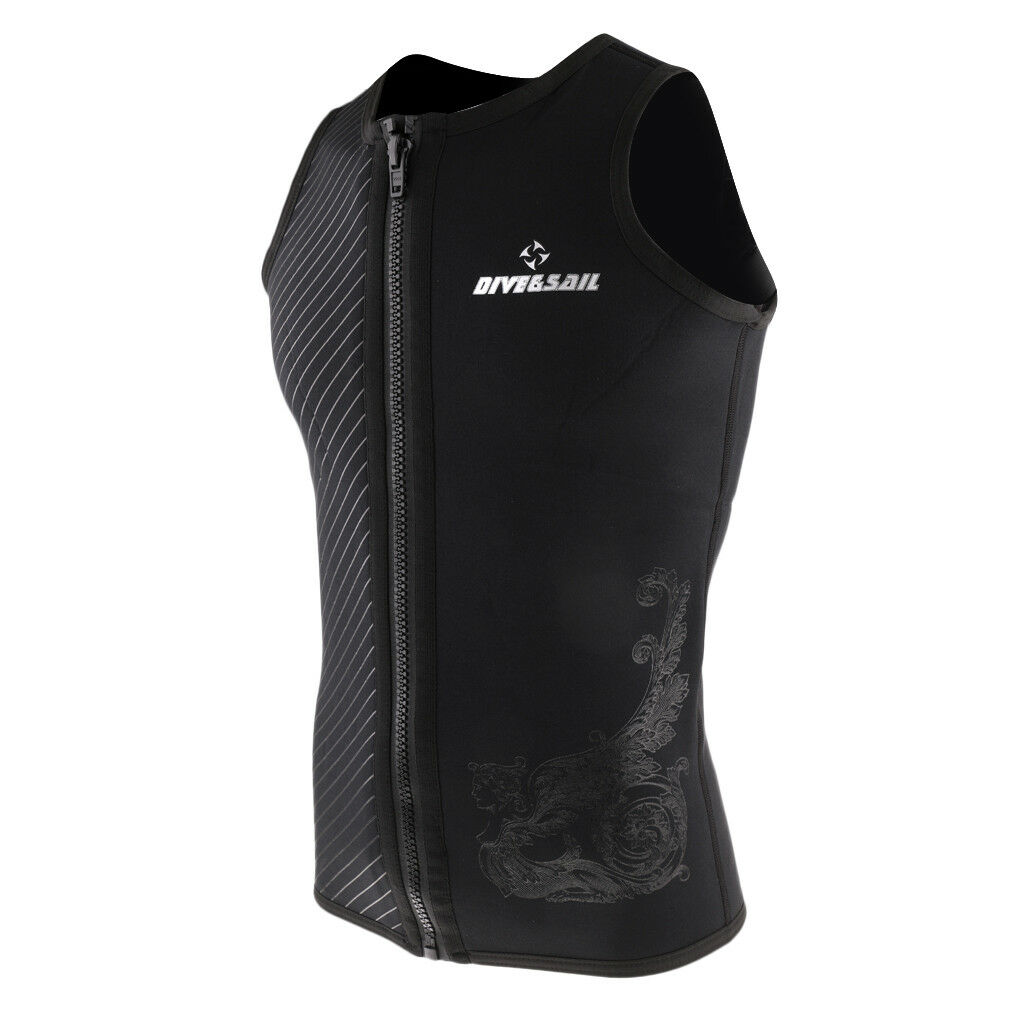 Mens 3mm Wetsuit Vest Sleeveless Neoprene Wetsuits Top SCUBA Surf Snorkeling