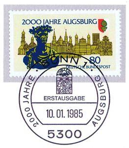 Expressif Rfa 1985: Augsbourg 2000 Ans! Nr 1234 Avec Bonner Ersttags-cachet Spécial! 1a 157-rstempel! 1a 157fr-fr Afficher Le Titre D'origine