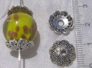 Lot-de-12-COUPELLES-12mm-en-metal-argente-intercalaires-spacers-pour-perles-S23