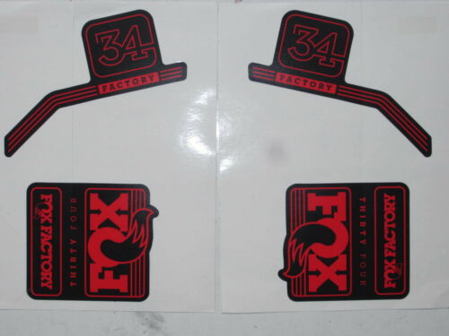 2016 Red Fox Factory-34 Fork Decal Set