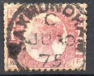 1874-Sg-48-d-Rose-red-039-KF-039-Plate-12-Used-with-Saxmundham-Duplex-Cancellation